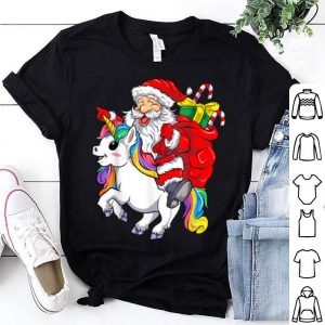 Beautiful Santa Unicorn Christmas Kawaii Merry Xmas MagicalT-Shirt shirt