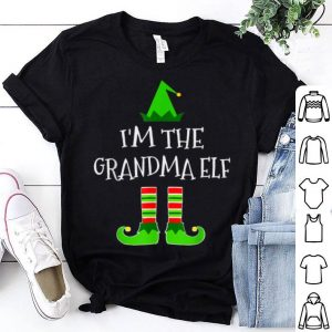 Beautiful The Grandma Elf Family Matching Group Christmas Gift shirt