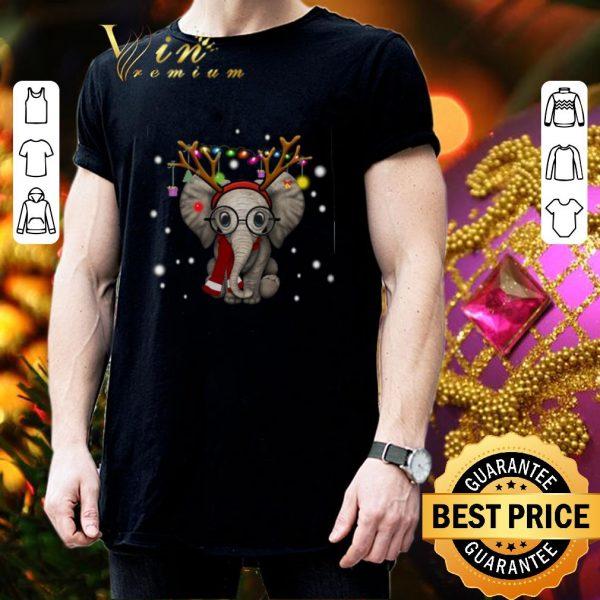 Cheap Elephant reindeer merry and bright Christmas shirt
