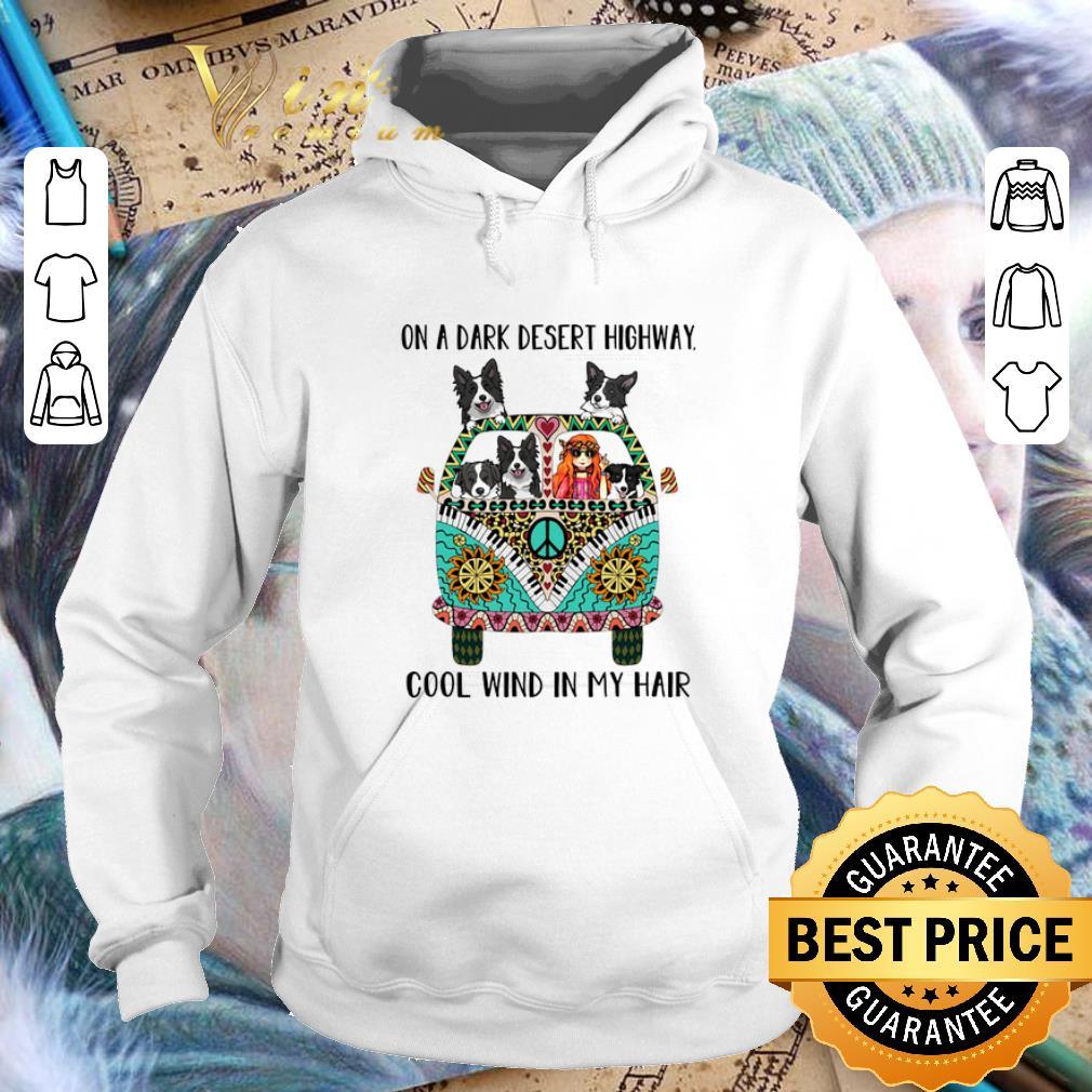 Cheap Hippie bus Border Collie on a dark desert highway cool wind shirt 4 - Cheap Hippie bus Border Collie on a dark desert highway cool wind shirt