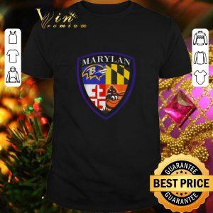 Cheap Marilan Baltimore Ravens Baltimore Orioles Shield shirt