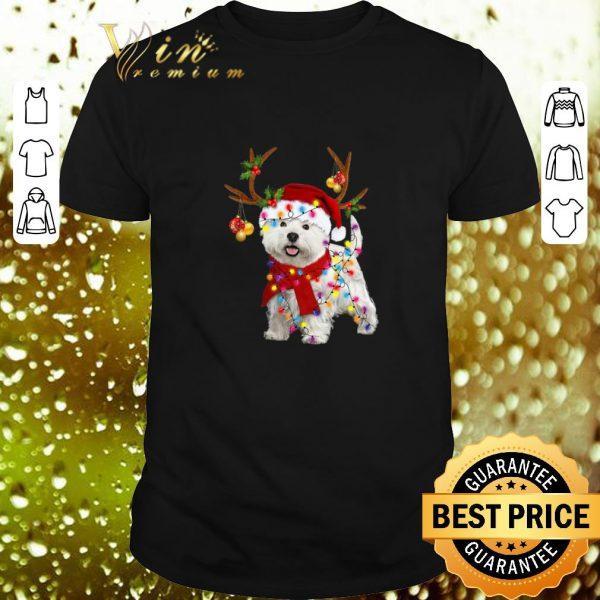 Cheap West Highland Terrier santa reindeer Christmas shirt