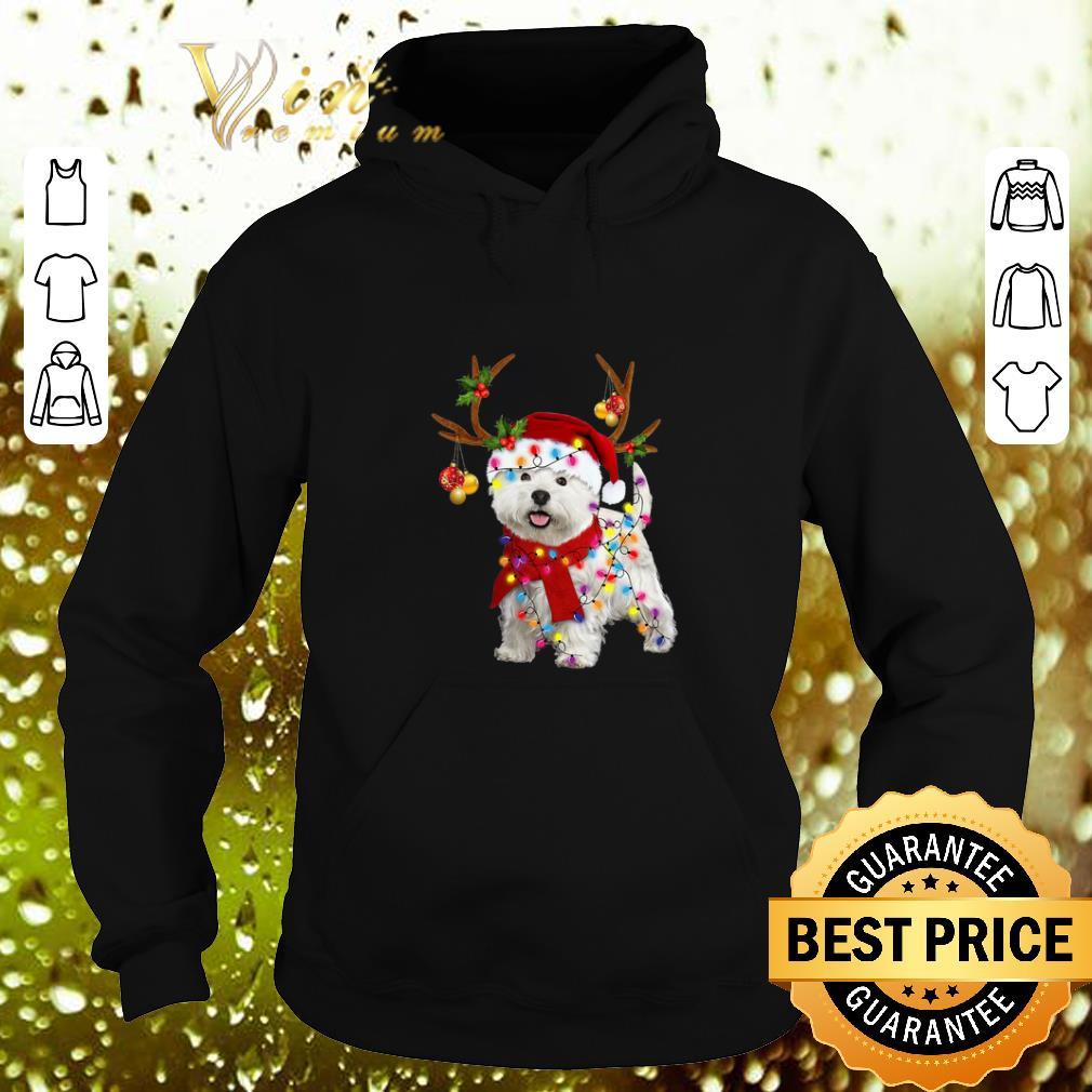Cheap West Highland Terrier santa reindeer Christmas shirt 4 1 - Cheap West Highland Terrier santa reindeer Christmas shirt
