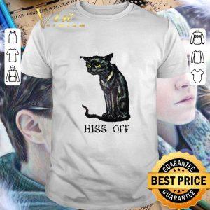 Funny Black cat hiss off shirt