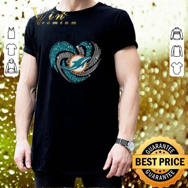 Funny Diamond love Miami Dolphins heart shirt