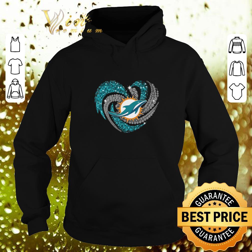 Funny Diamond love Miami Dolphins heart shirt 4 - Funny Diamond love Miami Dolphins heart shirt