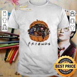 Funny Horror characters Chibi in pumpkin Friends shirt