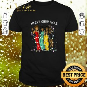 Funny Merry Christmas Black Woman Friends Happy shirt