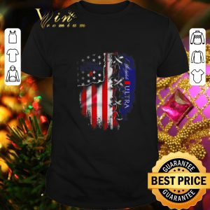 Funny Michelob Ultra beer inside American flag shirt