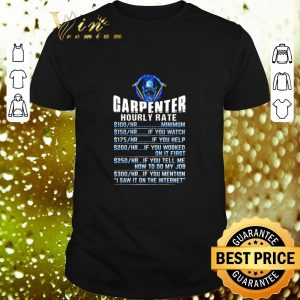 Funny Skull Carpenter Hourly Rate shirt