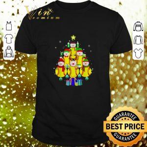 Funny Softball snowman Christmas tree shirt