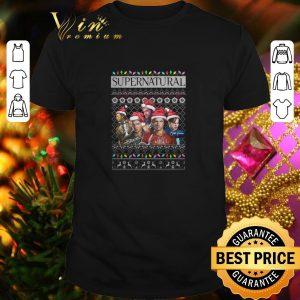 Funny Supernatural characters signatures Christmas shirt