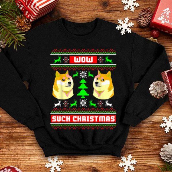 Hot Doge Meme Funny Doge Dog Ugly Christmas shirt