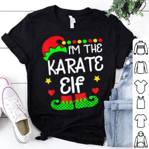 Hot I'm The Karate Elf Christmas Family Elf Costume Tee sweater