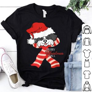 Hot Merry Christmas Y'all Santa Shih Tzu Dog Xmas lover gift shirt