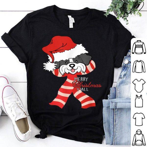 Hot Merry Christmas Y'all Santa Shih Tzu Dog Xmas lover gift shirt