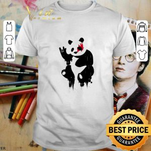 Nice Kiss Panda Rock shirt