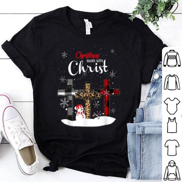 Nice Womens Christmas Begins With Christ Xmas Gifts shirt