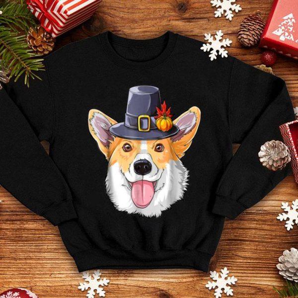 Official Thanksgiving for boys kids Men Corgi Pilgrim Costume shirt