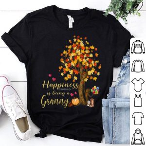 Official Womens Happiness Is Being A Granny Autumn Thanksgiving shirt