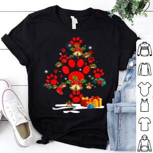 Original Dog Paw Christmas Tree Funny Christmas Party shirt