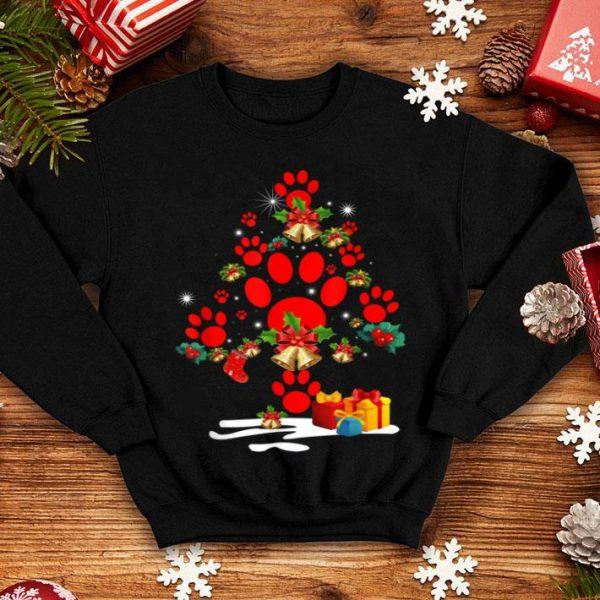 Original Dog Paw Christmas Tree Funny Christmas Party shirt