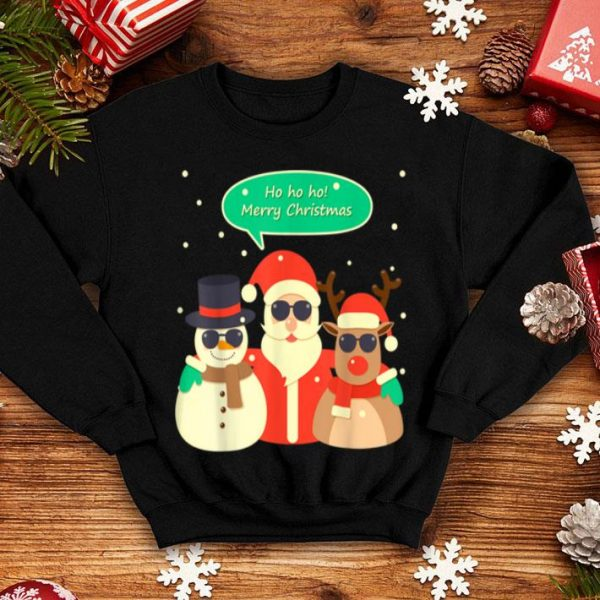 Original HO HO HO Merry Christmas Santa Snowman Reindeer Xmas Gift sweater