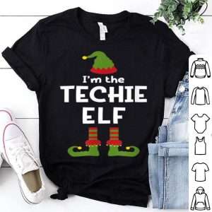 Original I'm The Techie Elf Funny IT Worker Christmas Party Pajamas sweater