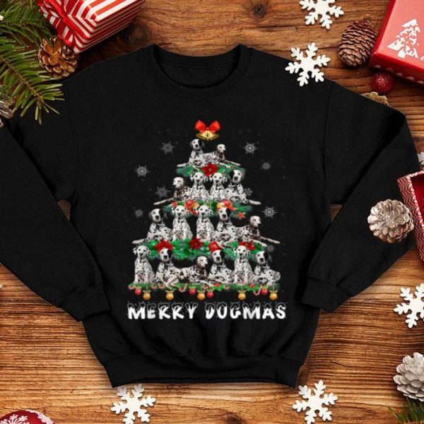 Original Merry Dogmas Dalmatian dog Christmas decor Xmas tree shirt