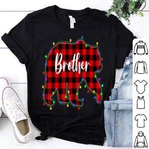 Original Red Plaid Brother Bear Xmas Lights Matching Pajama Family sweater