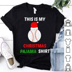 Original This Is My Christmas Pajama - Gift For Baseball Lover shirt