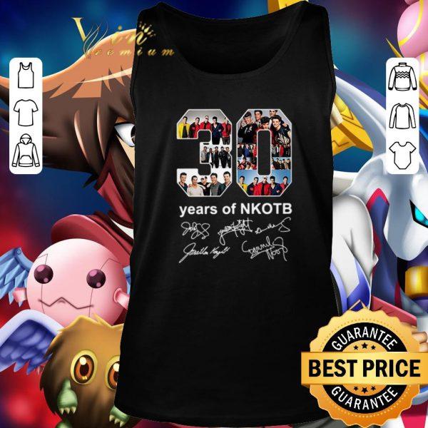 Premium 30 years of NKOTB New Kids On The Block signatures shirt