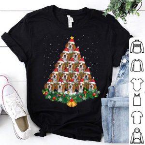 Premium Beagle Dog Christmas Tree Lights Santa Hat Graphic Gift shirt