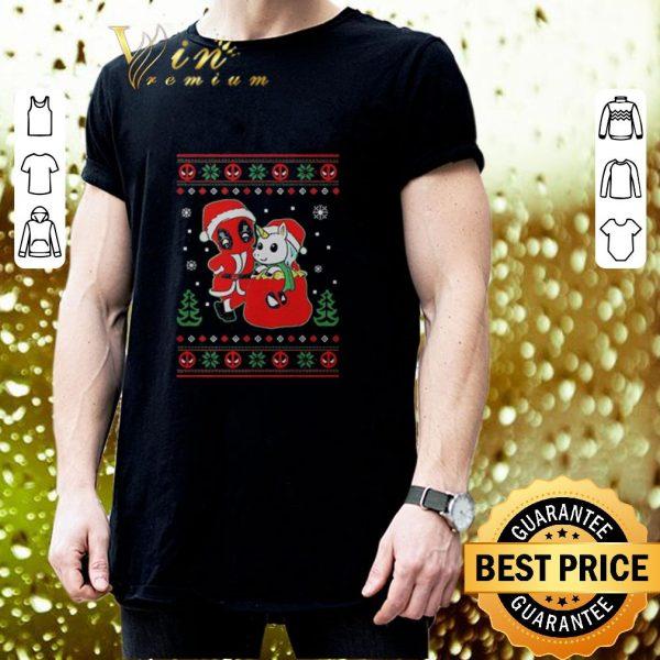 Premium Deadpool unicorn ugly Christmas shirt