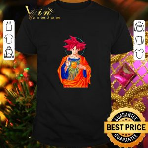 Premium Jesus Mashup Son Goku Super Saiyan God shirt