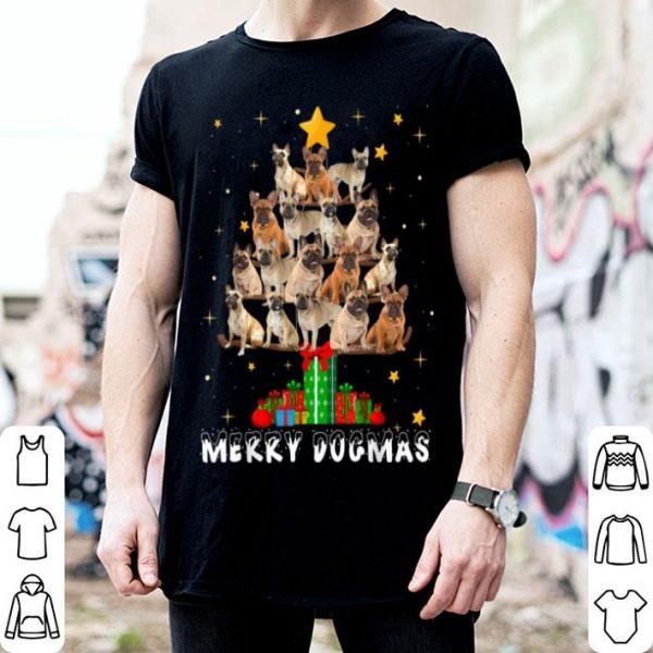 Premium Merry Dogmas French Bulldog dog Christmas decor Xmas tree shirt