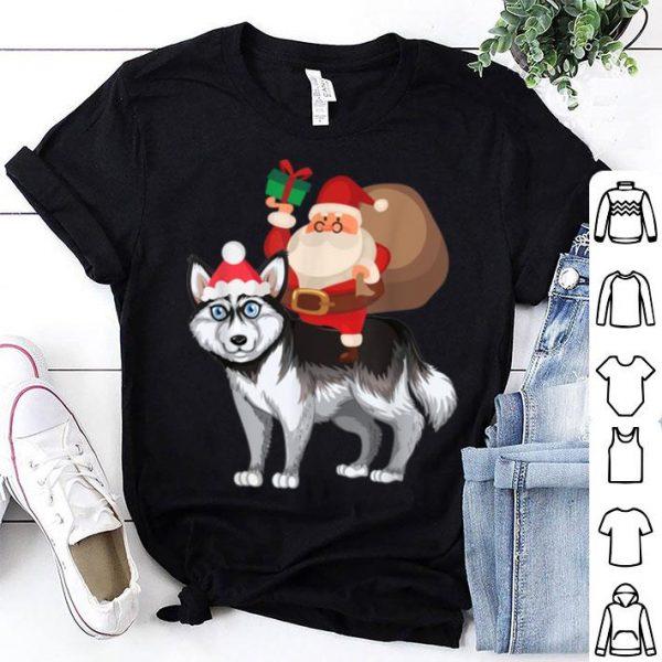Premium Santa Riding Alaskan Klee Kai Christmas Pajama Gift shirt