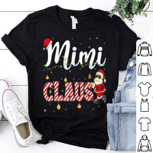 Pretty Cute Christmas Mimi Santa Hat Gift Matching Family Xmas shirt