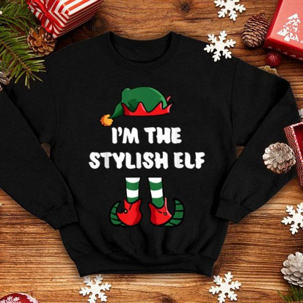 Pretty I'm The Stylish Elf Matching Family Group Funny Christmas shirt