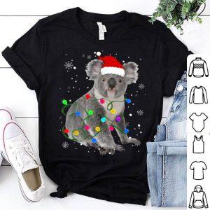 Pretty Koala With Christmas Lights Matching Family Gift shirt