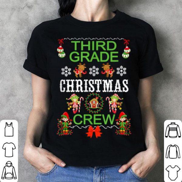 Pretty Third Grade Teacher Student Christmas Class Christmas Crew shirt