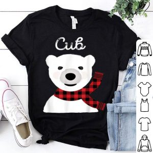 Top Family Matching Christmas Kids Buffalo Plaid Bear Cub sweater
