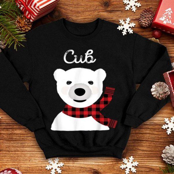 Top Family Matching Christmas Kids Buffalo Plaid Bear Cub sweater