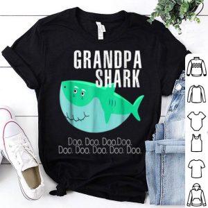 Top Grandpa Shark Father Grandpa Halloween Christmas shirt