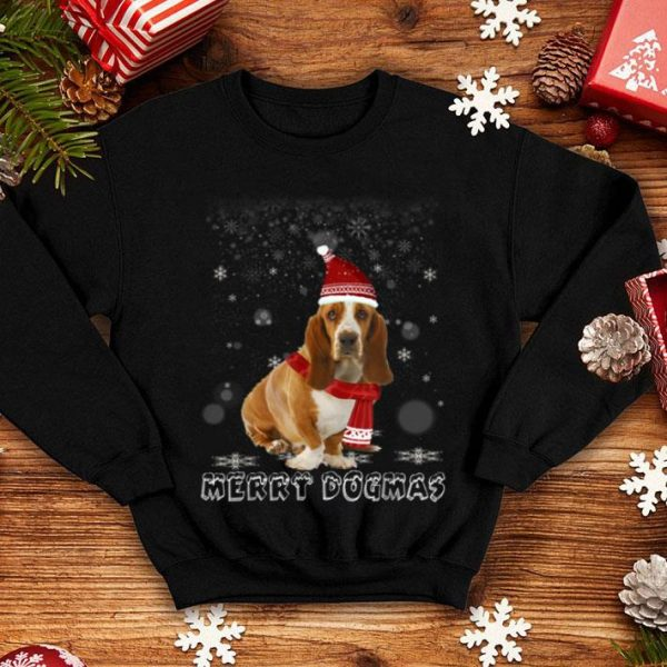 Top Merry Dogmas Basset Hound dog Snow Christmas Eve Xmas shirt