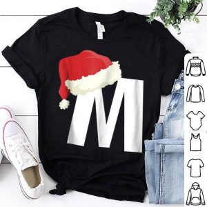 Top Monogrammed Christmas For Families Letter M shirt
