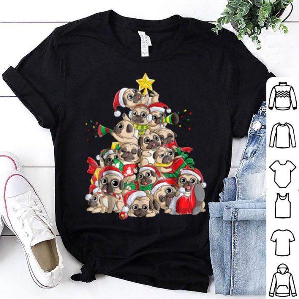 Top Pug Christmas Merry Pugmas Xmas Tree Santa Boys Gifts shirt