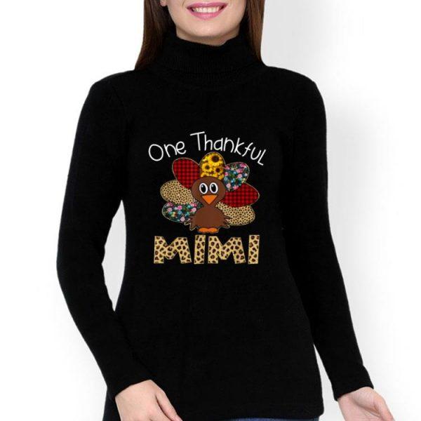Turkey One Thankful Mimi Thanksgiving Day shirt