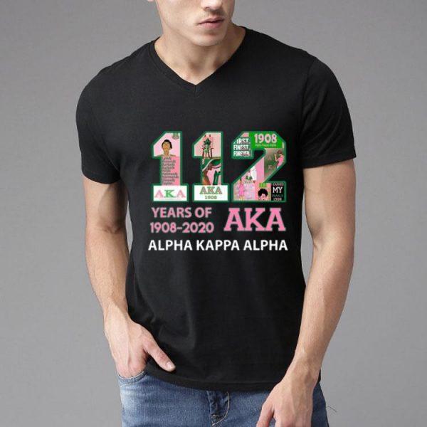 112 Years Of Aka Alpha Kappa Alpha 1908-2020 shirt