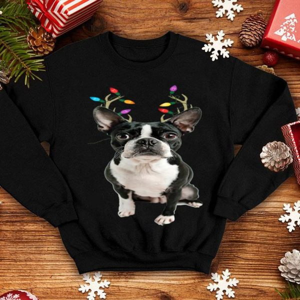 Awesome Boston Terrier Reindeer Christmas Dog sweater